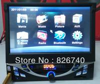 mp5 player 7 retractable touch screen hd rmvb bluetooth phone rear view car dvd auto audio