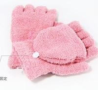 Hot Selling soft super warm utility double function gloves / dual-use flip half refers to computer gloves wholesale,ST004
