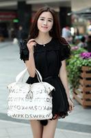 2013 New  Top Grade PU Leather woman's fashion messenger bag/Handbag/Shoulder bag 1pc free shipping
