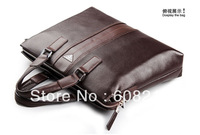 Freeshipping+Genuine Cow Leather+NEW Men leather shoulder Briefcase bag/handbags/men's bag,New+Fashion laptop bag,ipad bag