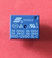 Hot... Free Shipping 25pcs /lot SRD-12VDC-SL-C PCB Type 12V DC SONGLE Power Relay