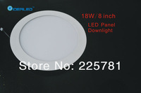 8inch/18W Led panel light 2pcs/lot new Ultra thin design Downlight Free shipping indoor lighting