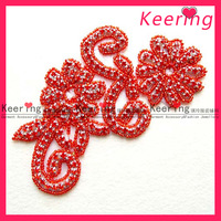 Wholesale!hot sell hot fix rhinestone applique patch ,Free shipping,WRA-030