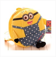 Despicable me minion plush backpack backpack despicable me minion doll free shipping wholesale Christmas gifts