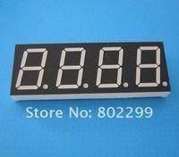 "7 Segment LED Digit Display: 0.8"" 4 DIGIT Single foot trends Super Red 7-Segment Common Anode 12P LED display"