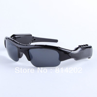 New Black Headset Sunglasses DVR-Mobile Eyewear Recorder-Camera-DV Support for TF/micro SD card + 4GB SD Card