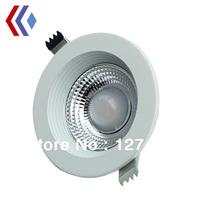 Free shipping 5w Cob downlight AC110~240V 2 Years warranty 450LM IP65 anti-dazzle  CE&ROHS Silver shell Cob led 5W