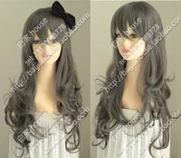 Free shipping 2013 high quality new wig HARAJUKU female grey long lolita lourie kinkiness cosplay wig