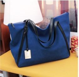 Large capacity bags nubuck leather shoulder bag casual bags female brief 8185