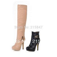 Drop Shipping Women's Boots Fashion Sexy High Heels Knee High Boots