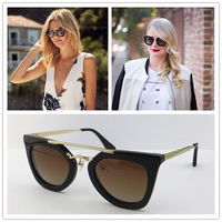 FreeShipping luxury designer brand Fashion rimless sunglasses mod 2120s gold brief all-match   sunglasses anti-uv