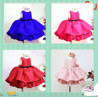 4 color elegant dress handmade flower girl princess design low Qunqun 2013 girl dress formal dress