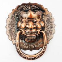 Antique Chinese lion head door knocker Shoutou Grip diameter 18cm