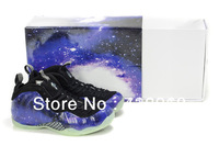 Hot Sale Famous Player Penny Hardaway Air Foamposite one Galaxy Blue Black Glow in the Dark Men's Basketball Shoes