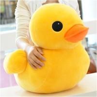 Big plush toy doll yellow duckling cloth doll birthday gift