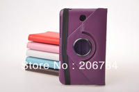 360 degree leather cover for samsung galaxy tab3 7inch p3200 free shipping