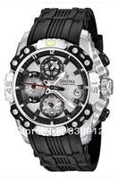 Promotion 2013 Festina F16543-1 Men's Bike Grey Dial Chronograph Black Rubber Band Quartz Watch+ ORIGINAL BOX FREE SHIPPING
