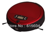 2013 Free Shipping Voice Function/Wet and Dry Moping Robot Vacuum Cleaner With Schedue,LCD Screen,UV Lamp,Two Side Brush,0.7L