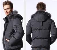 NEW 2013 HOYANP Winter Down Coat  Male Short Design Fur Collar Down Coat Casual Men's Clothing Down Jacket Men Big Size 4XL 5XL