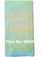 Free shipping 2013-New swiss voile lace high quality  african lace  with rhinestones dylace 9053-yellow 5yards/pcs