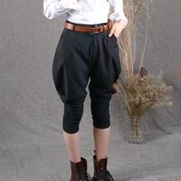 2013 spring and summer original design handsome breeched harem pants hanging crotch pants harem pants casual pants trousers