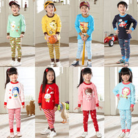 2013 autumn cotton child 100% male female child at home service baby sleep set children's clothing underwear clothes