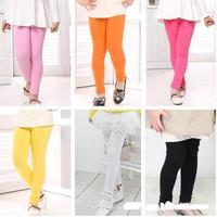 Free Shipping 5pcs/Set Fashion Children's Clothing Wild Candy-Colors Thick Leggings Kid Long pants Boy Girl pants Tight CL0453