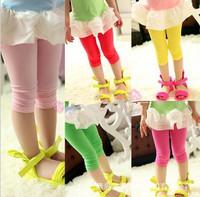 Summer 5pcs/Set Children Clothing Wholesale Candy colors Leggings Shorts Girls Wild Pants Trousers For Children 5 Size CL0454