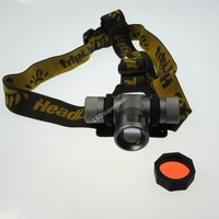 CREE Q5 LED an infinitely variable headlamp With RED/Green/Blue Color Filter