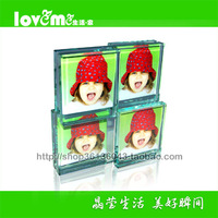 Glass photo frame photo frame exquisite gift glass swing sets double faced photo frame positive and negative 8