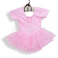 Free Shipping Girl Ballet Dance Dress Gymnastic Leotard Tutu 5-6 Yrs - Pink