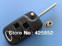 Free shipping Lexus Modified Flip Remote Key Shell Cover 3 Button replacement key case+Top Quality