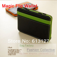 MAGIC MONEY CLIP FUNNY WALLET PURSE  MONEYBAG short design Synthetic Imitation PU Leather NOTECASE HOT men's Pouch
