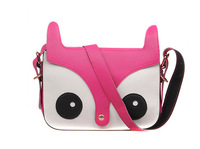 Free Shipping 100PCS/Lot 2013 New Women Ladies Retro Shoulder Bag Fashion Messenger Bags Cute School Tote Owl Fox PU Handbags
