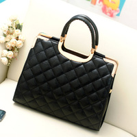 Bags 2013 Women's Handbag Plaid Fashion Shoulder Michael Handbag Women's Shaping Messager Bag Black Louis Vintage Bags Dropship