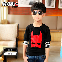 Free Shipping New Arrival Children's clothing autumn child 2013 basic shirt child top cm1a10 male child long-sleeve T-shirt