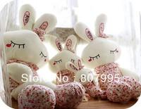 Free postage 70CM cartoon LOVE Rabbit Adorable Floral Rabbit plush doll