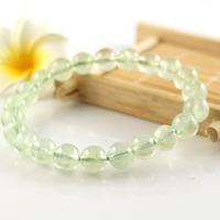 5mm natural prehnite round beads bracelet,high quality,women bracelet ,sold invidually.free shipping