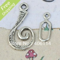 MIC 100Sets Tibetan Silver Unique Hook Toggle Clasps 26X13mm Jewelry DIY
