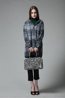 jacket, parka_ 2013 women's overcoat plaid woolen outerwear slim woolen overcoat single breasted _women winter coat