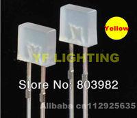 Yellow 255 dip led Milky white diffused diode 2.0-2.5V 2-PIN square light emitting led