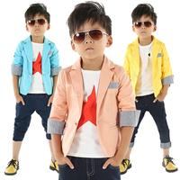 Free shipping 2014 new arrival autumn children blazer formal jacket boy outerwear boy coat children casual children blazer