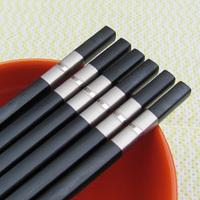 Alloy chopsticks two-color pearl chopsticks double fsd-008 34g