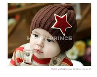 2013-2014 New Retail Winter Hat Kid Cap Autumn Winter Children Pentagram Wool Hat Free Shipping