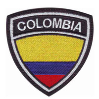 """05,2"""", emb,area over 80%,100pcs/bag, MOQ50pcs, ,embroidered badge,colombia,merrow or flat broder,iron on backing,free shipping"""