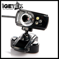 USB 2.0 50.0M 3 LED PC Webcamera HD Webcam Web Camera Cam + MIC Microphone for Computer Laptop without Retail Package Wholesale