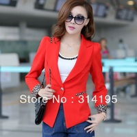 Real picture with model M-XXXL Free Shipping 2013 autumn long-sleeve casual blazer outerwear women's slim b411668