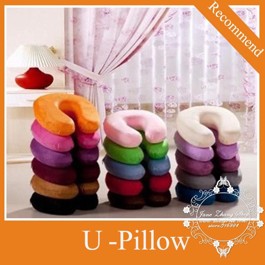 Neck Pillow U-shaped U-shaped headrest car Flight gentle care pillow slow rebound memory Pillow color no choose(China (Mainland))