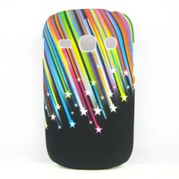 Rainbow Star Meteor Hard Rubber CASE Cover FOR Samsung Galaxy Fame Duos S6812 /S6810