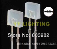 Ultra white DIP LED square(2mm*5mm*5mm) 6000-6500K diffused leds 3.2-3.4V
